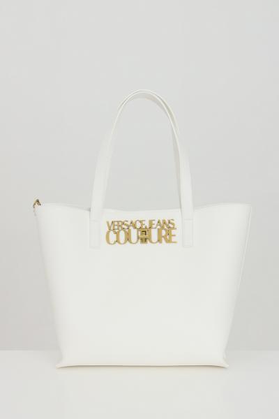 VERSACE JEANS COUTURE Borsa donna bianca versace jeans couture, modello shopper con portafogli interno  Borse | E1VWABL871879003