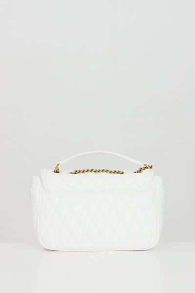 VERSACE JEANS COUTURE Borsa donna bianca versace jeans couture con tracolla in catena e logo frontale in oro. Chiusura con magnete  Borse | E1VWABQ171881003