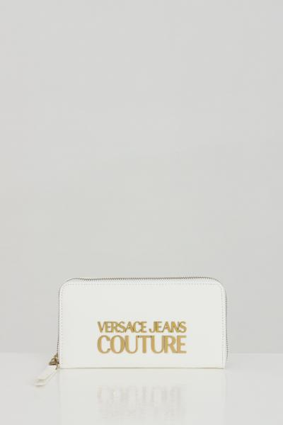 VERSACE JEANS COUTURE Portafoglio donna bianco versace jeans couture con applicazione logo in metallo  Portafogli | E3VWAPL171879003