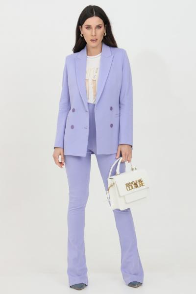 VICOLO Pantalone donna lavanda Vicolo elegante a vita alta con fondo ampio. Chiusura con zip laterale. Modello slim  Pantaloni   TH0141VIOLA