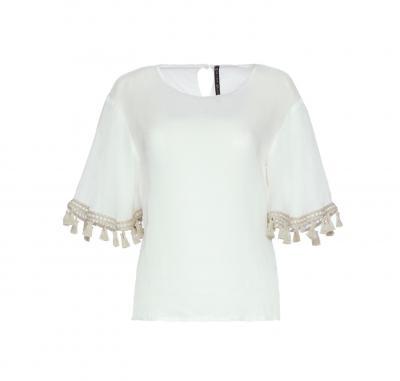 MANILA GRACE Blusa con nappine  Bluse | C476RUMD537