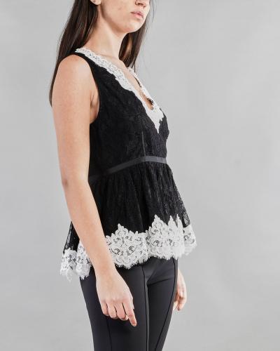 ANNA MOLINARI Camicia in pizzo con inserti a contrasto Anna Molinari  Camicie   24176239