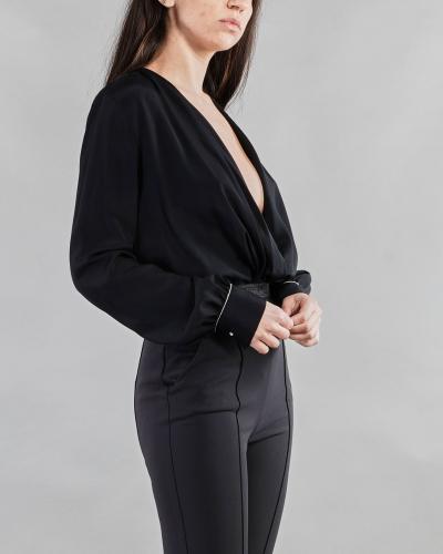 ANNA MOLINARI Camicia a body con applicazione sui polsini Anna Molinari  Camicie   24190140