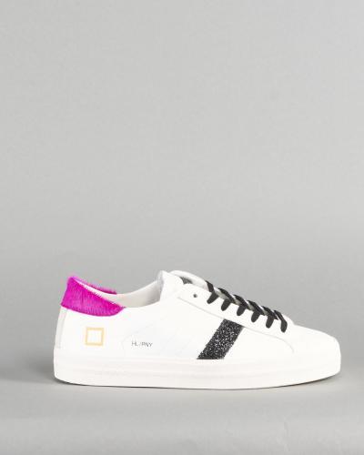 DATE Snekaer Hill Low Pony White Fuxia DATE  Sneakers   W341HLPNWFBIANCO