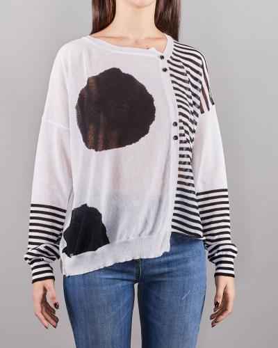MANILA GRACE maglia asimmetrica fantasia  T-shirt   M221CJMA028