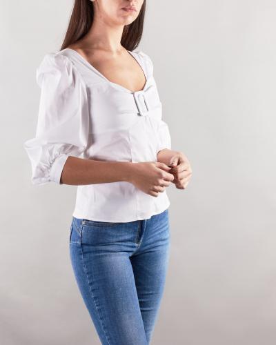 NENETTE Camicia con maniche a sbuffo Nenette  Camicie | FOGLIA1