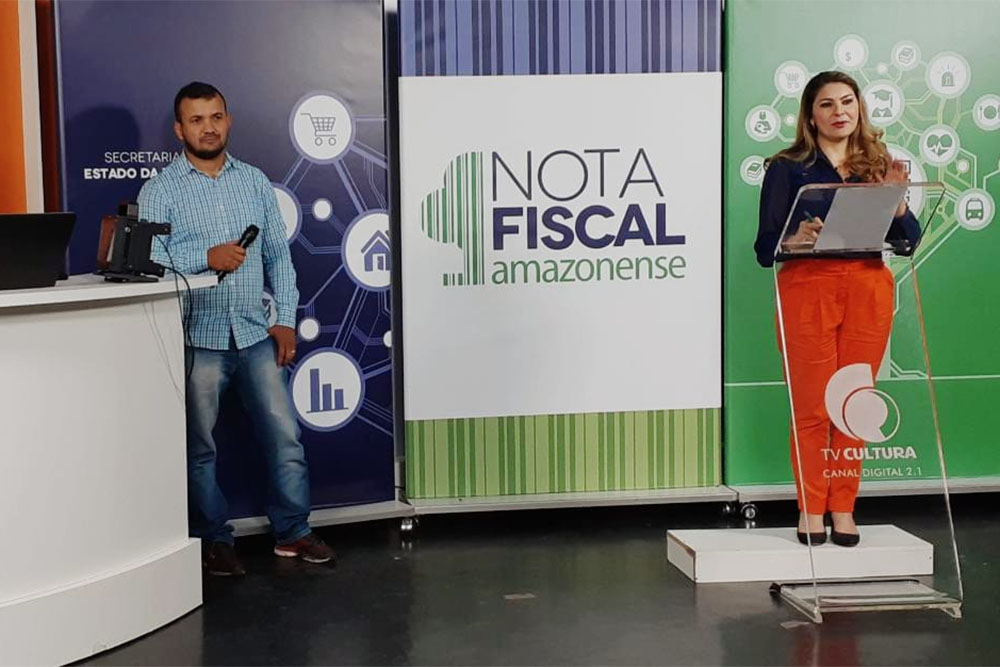 Sorteio mensal da campanha Nota Fiscal Amazonense