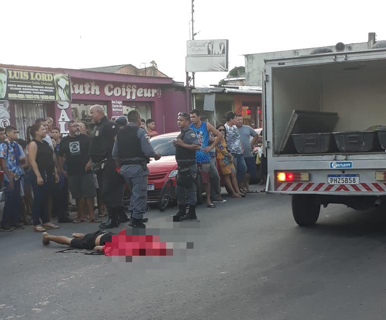 Homem morre ao ter cabeça esmagada por caminhão de lixo na Cidade Nova