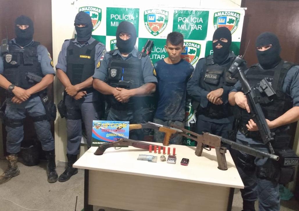 PMs são recebidos a tiros e homem é preso com três armas no Buritizal