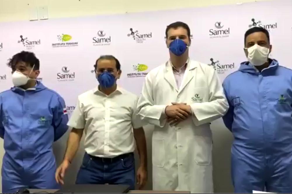 Samel comemora dez curados