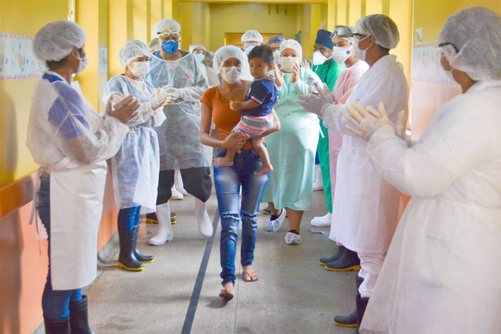 Bebê curado em Parintins