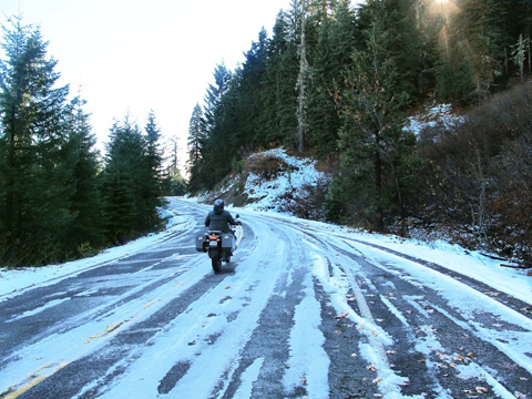 Neil in icy Oregon