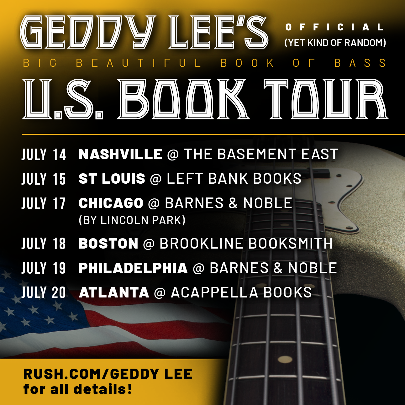 Geddy Lee BBBoB US Signing Tour   Rush.com