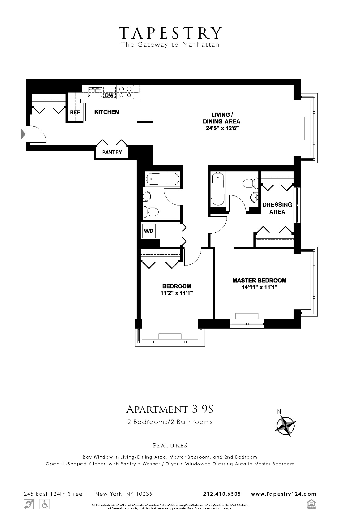 245 East 124th St 11e Building Apartment Rental At