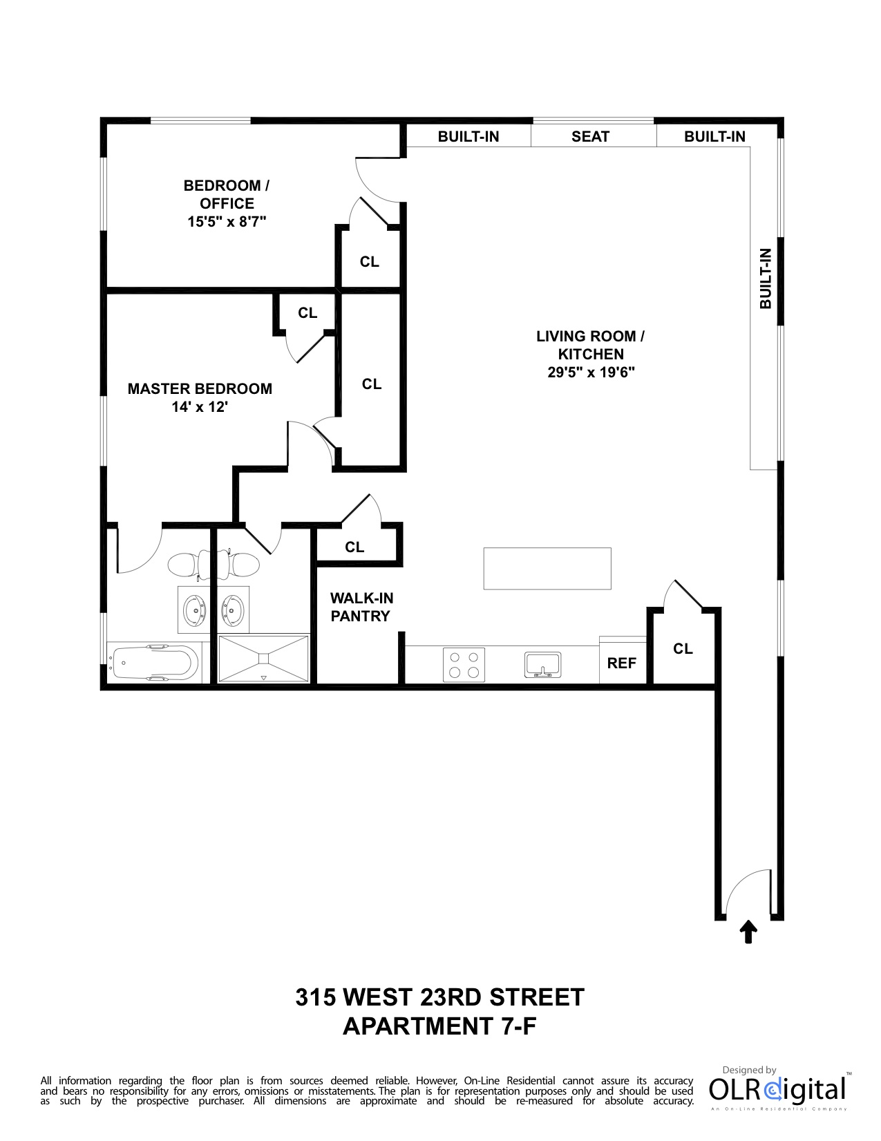 Exquisite Chelsea 2 Bedroom & 2 Bath Loft