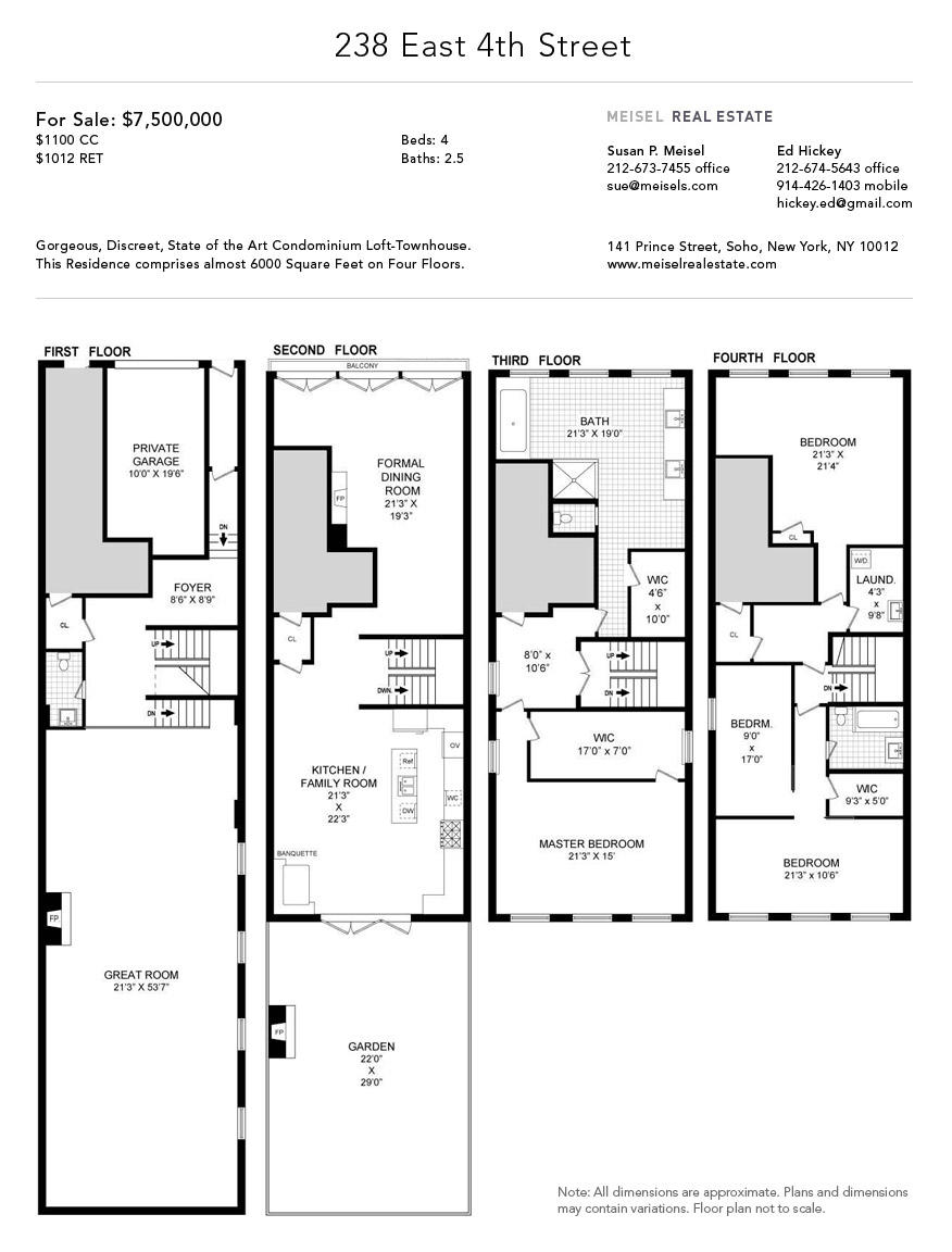 Ordinary Townhouse Plans With Garage 2 1390884 238 East