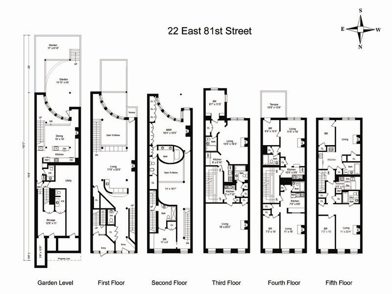 Nyc Townhouse Floor Plans: 22 East 81st St. In Upper East Side, Manhattan