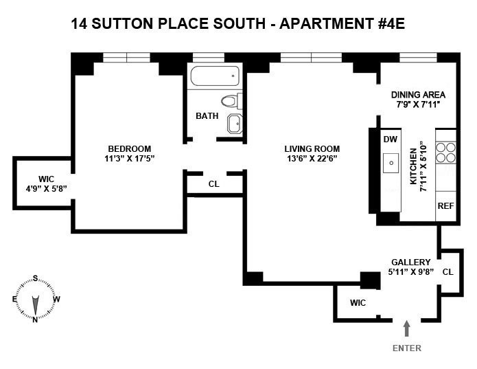 14 sutton pl south 4e co op apartment sale in sutton for Sutton place nyc apartments for sale