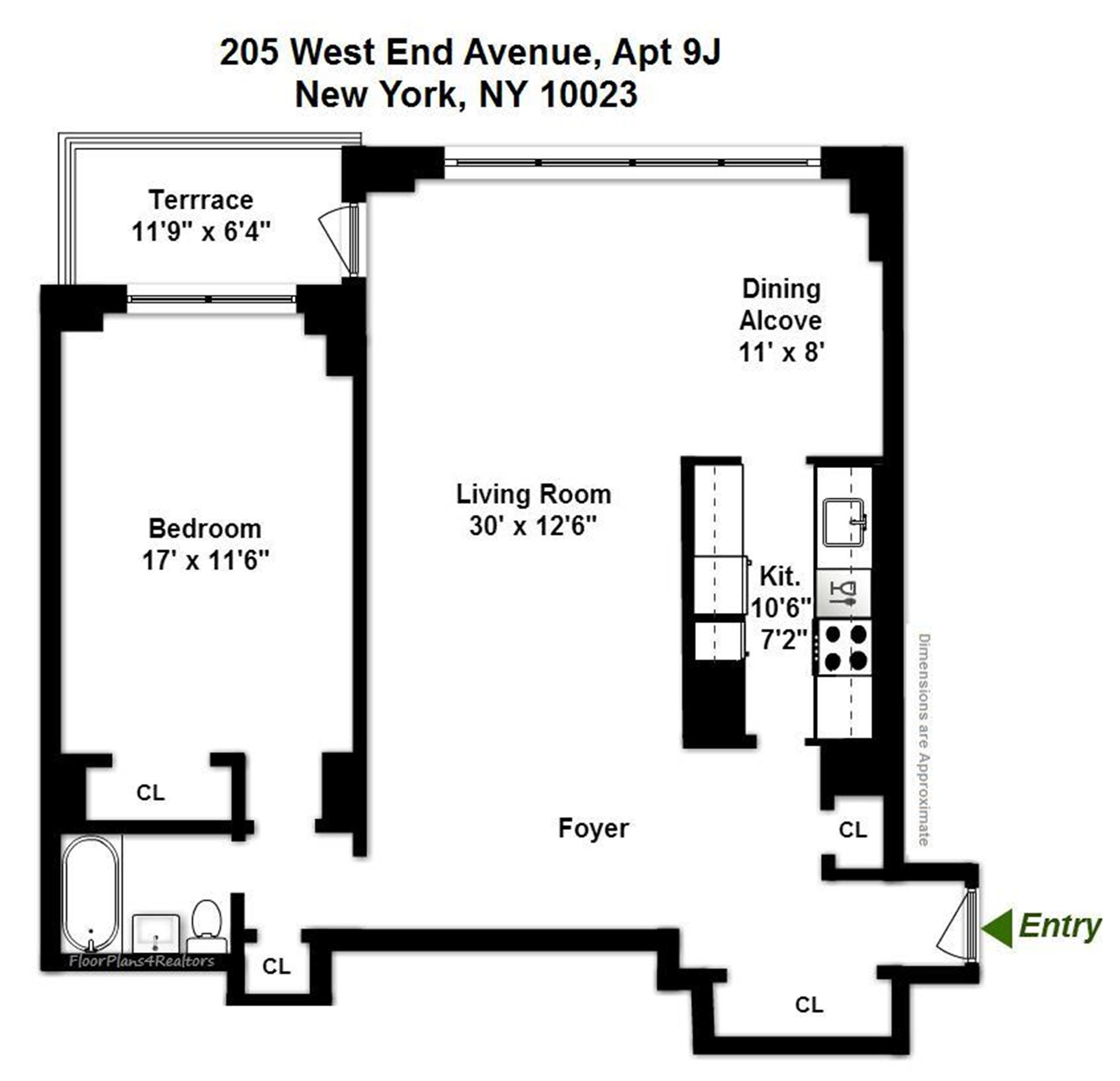 205 West End Ave 9j Co Op Apartment Sale At Lincoln