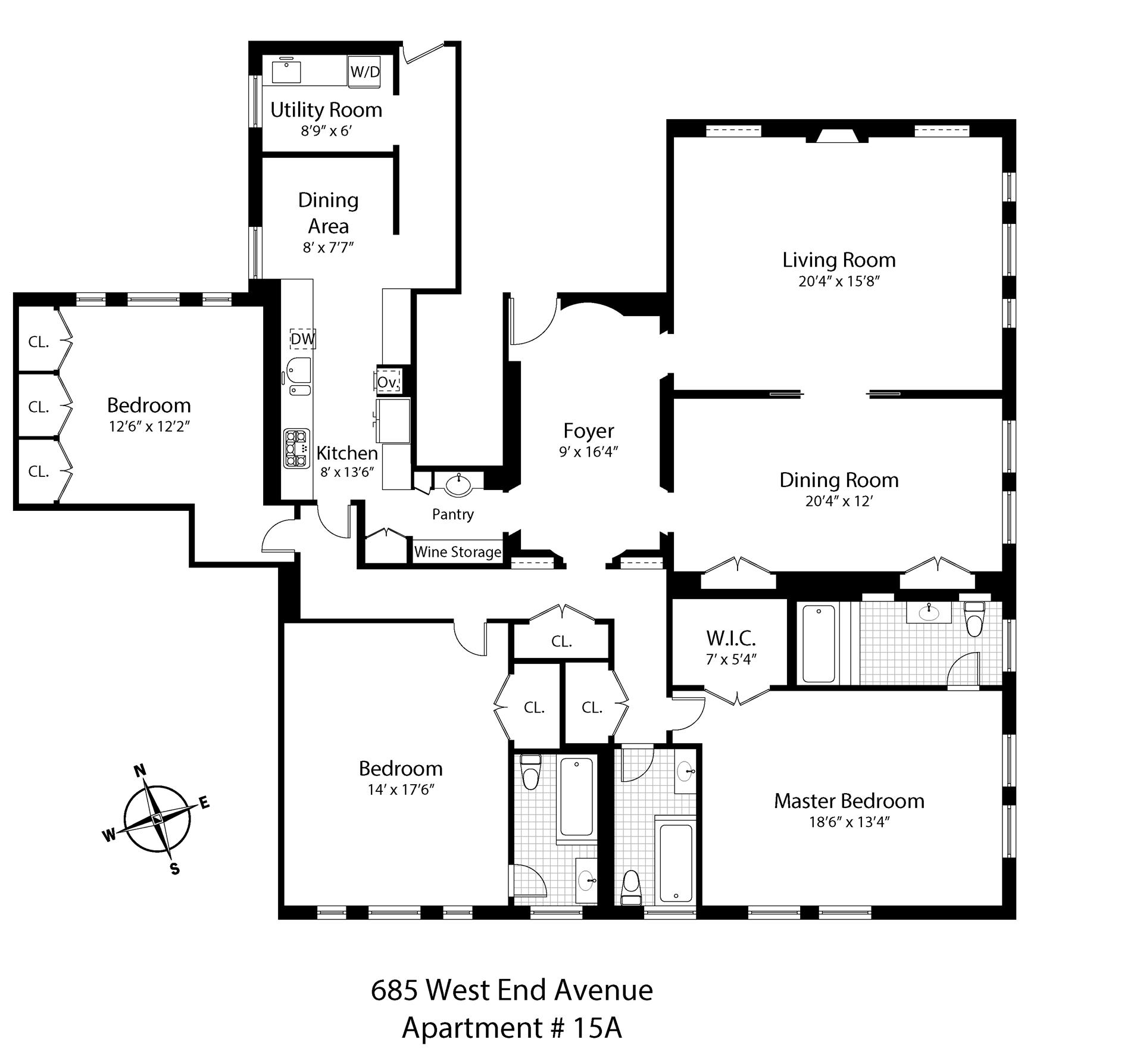 685 west end ave 15a co op apartment sale in upper for Best private dining rooms west end