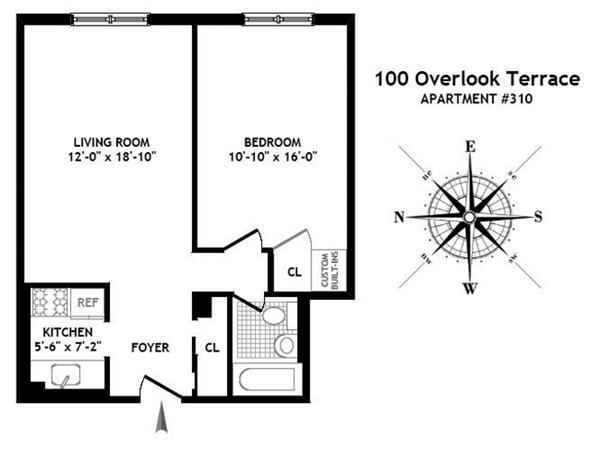 100 overlook terrace 310 co op apartment sale in hudson for 100 overlook terrace