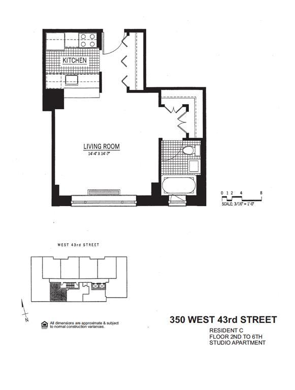 Streeteasy Ivy Tower At 350 West 43rd Street In Hell S