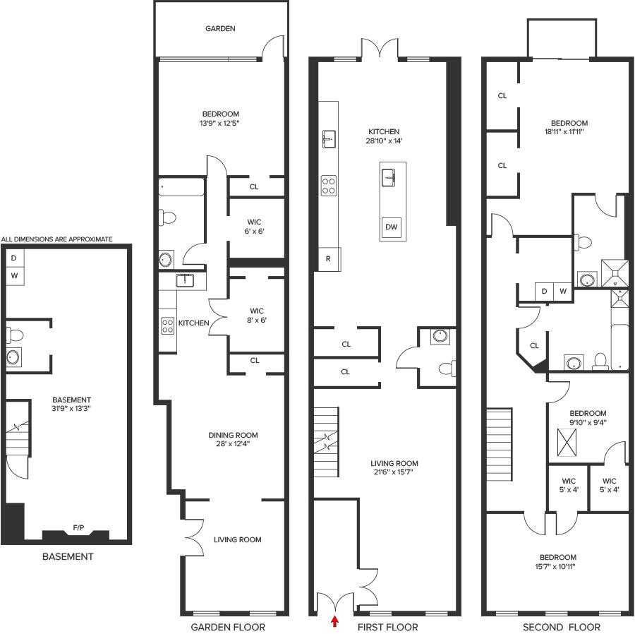 Floor Plan 498 Van Buren Street
