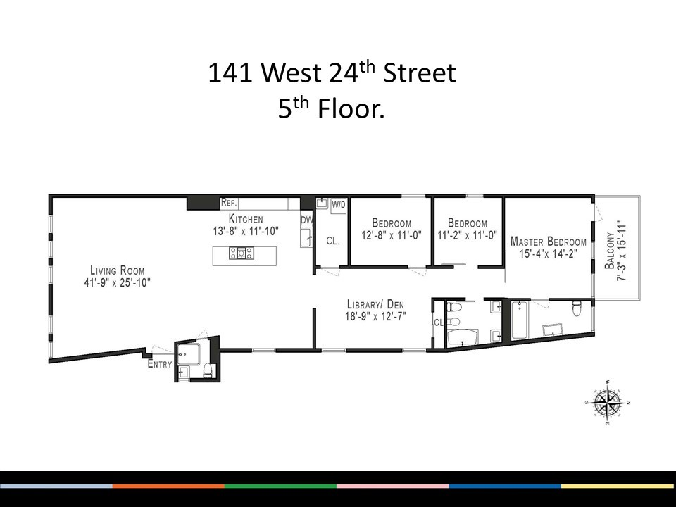 Streeteasy 141 west 24th street in chelsea 5 sales for 10 madison square west floor plans