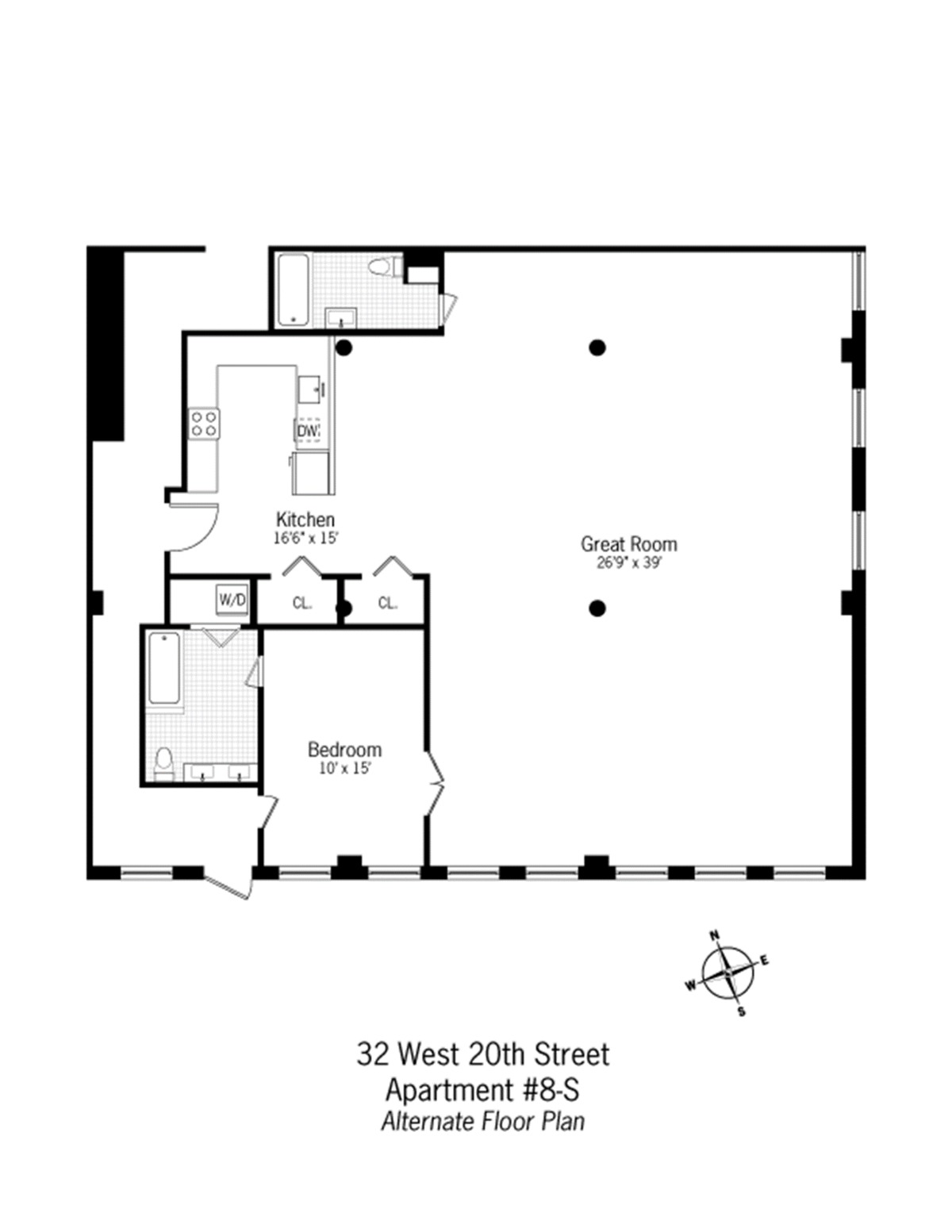 hints in the floor plan of a life lived in 32 West 20 Street loft as – Floor Plans With Great Rooms
