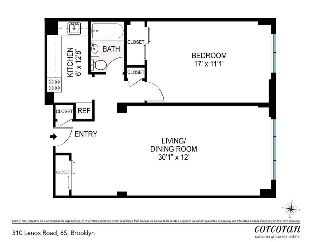 Streeteasy 310 lenox road in flatbush 6s sales for The lenox floor plan