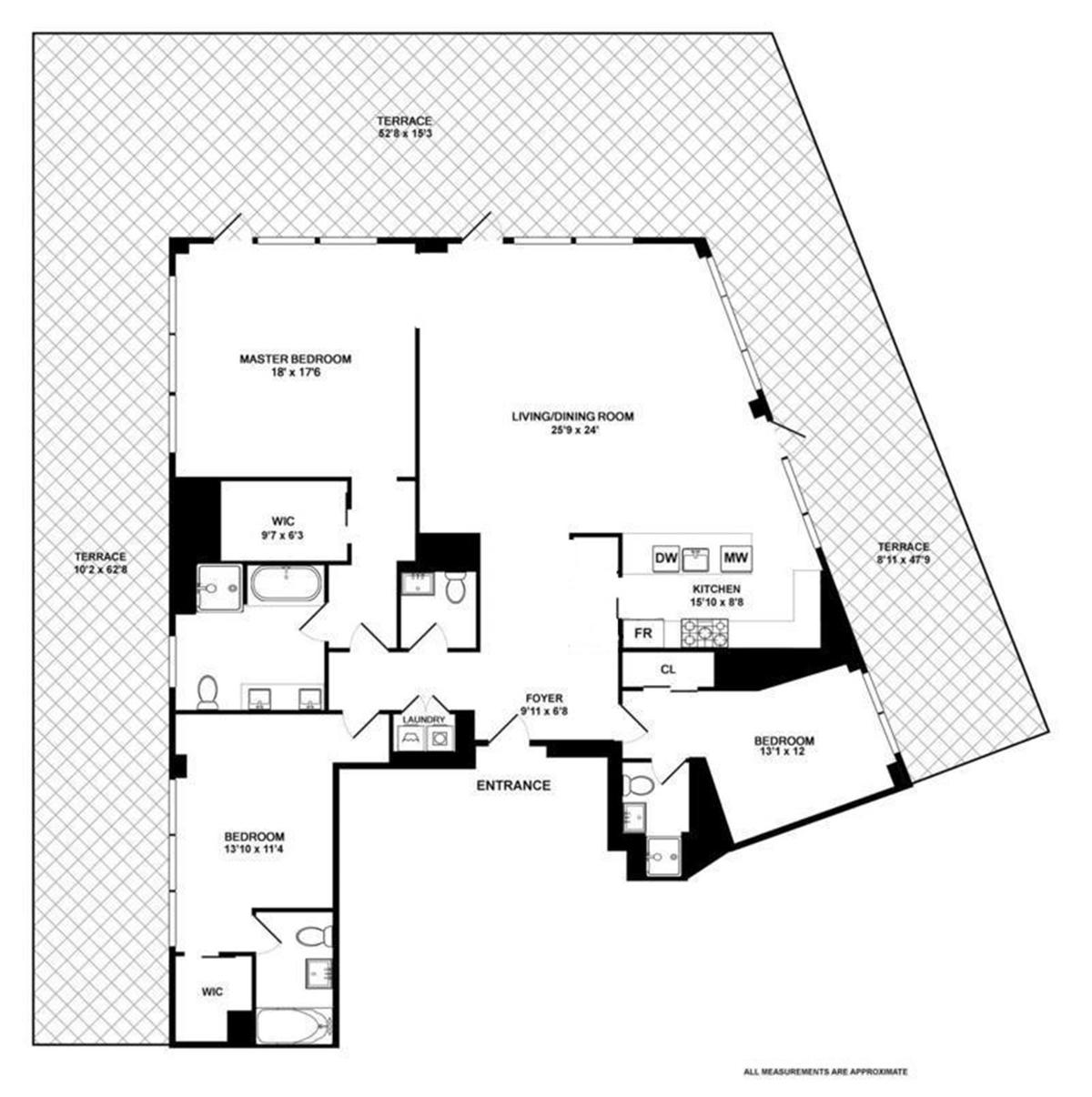 Streeteasy 10 madison square west in flatiron 18c for 10 madison square west floor plans