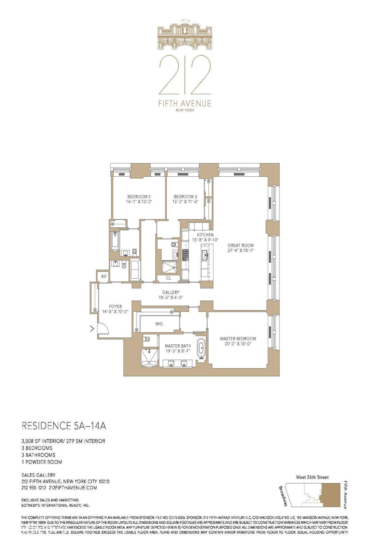 Three Bedroom Apartments In Chicago Streeteasy 212 Fifth Avenue In Nomad 5a Sales