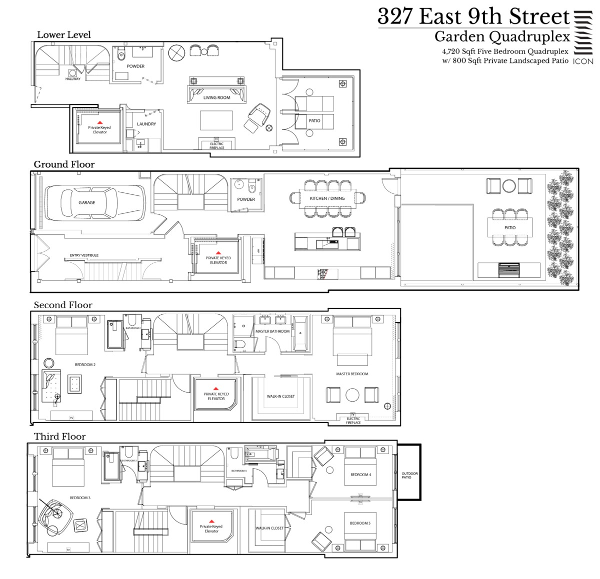 Streeteasy 327 east 9th street in east village for Quadruplex floor plans