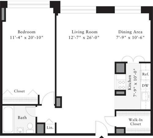 Floor Plan 963 Columbus Avenue Streeteasy The Westmont At