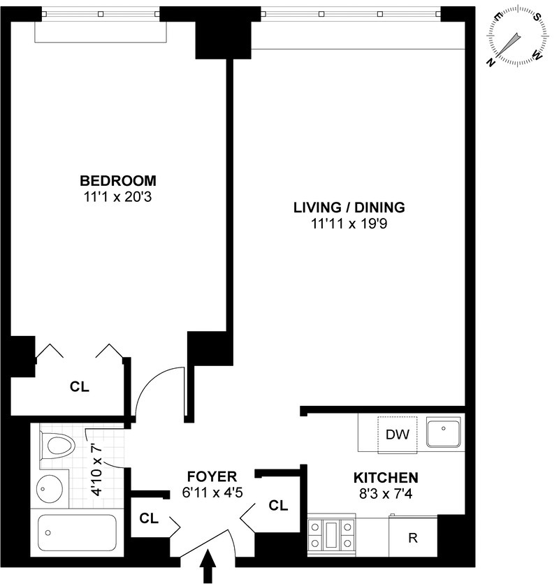 330 third avenue 9f in kips bay manhattan streeteasy for 1121 bay street floor plans
