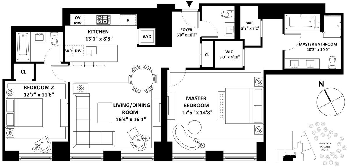 Streeteasy 10 madison square west in flatiron 3c for 10 madison square west floor plans