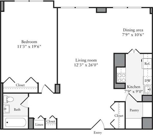 10 S Riverside Plaza Floor Plan