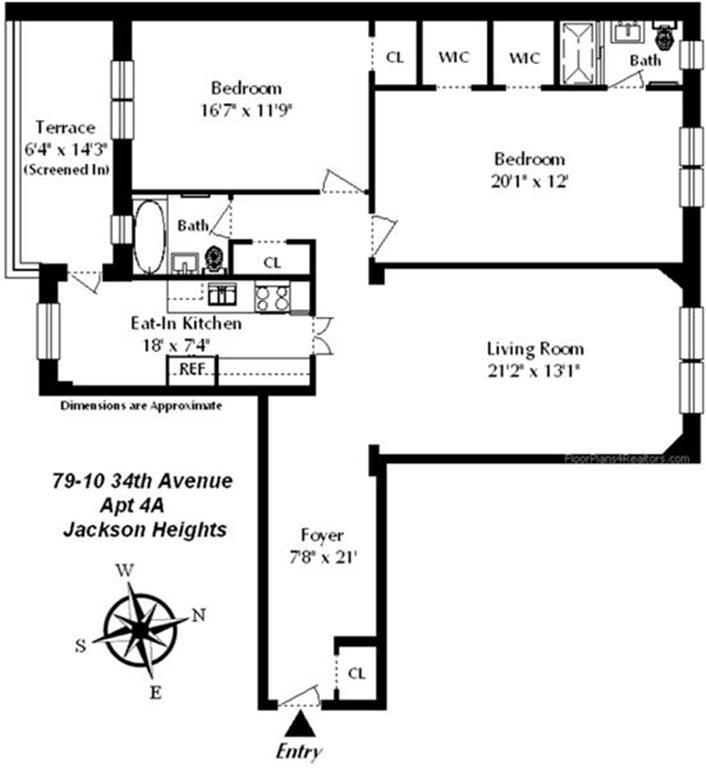 10 Light Street Apartments: StreetEasy: 79-10 34th Avenue In Jackson Heights, #4A