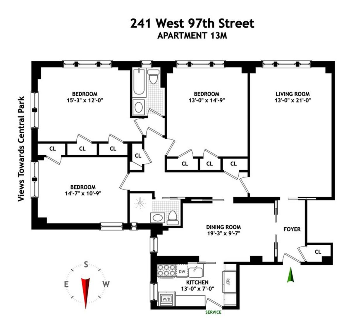241 West 97th Street #13M in Upper West Side, Manhattan