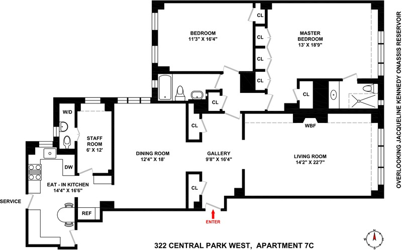 StreetEasy: 322 Central Park West in Upper West Side, #7C