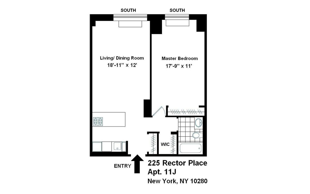StreetEasy: 225 Rector Place in Battery Park City, #11J