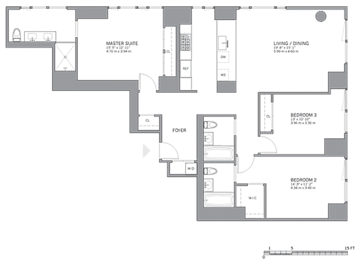 1 Yorkville Floor Plan