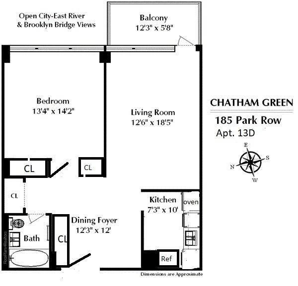 24 Manhattan Apartment Floor Plans The 11 Most: StreetEasy: 185 Park Row In Civic Center, #13D