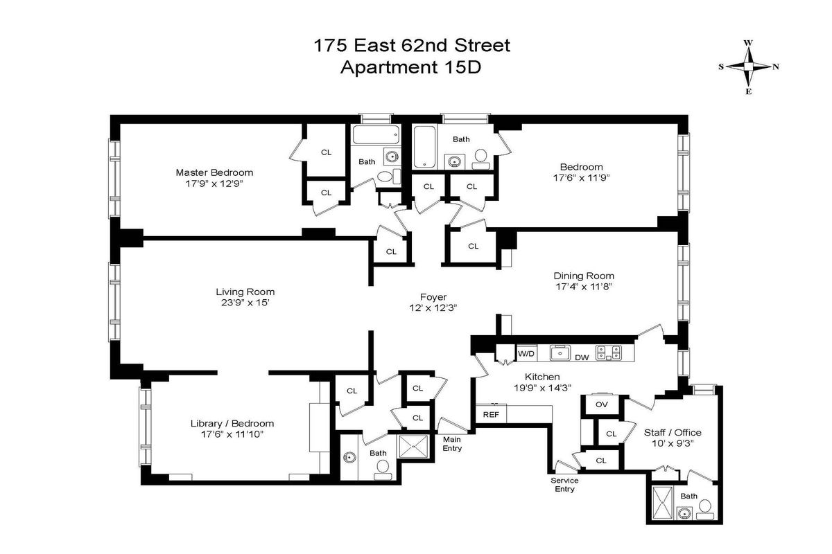 175 East 62nd Street 15d In Lenox Hill Manhattan