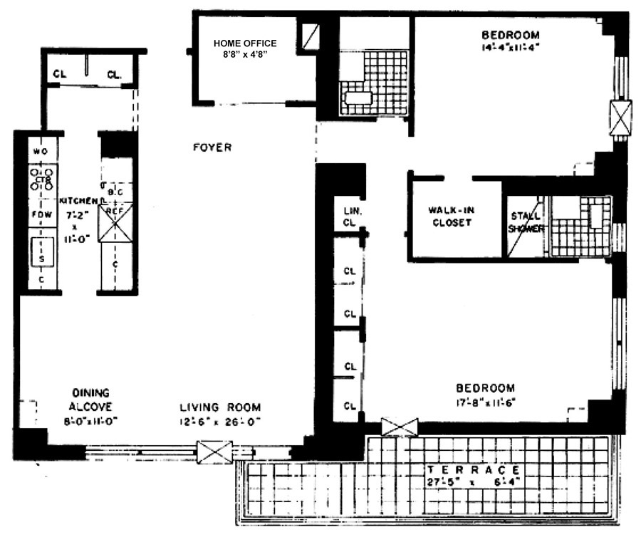 185 West End Ave Floor Plan Streeteasy Lincoln Towers At