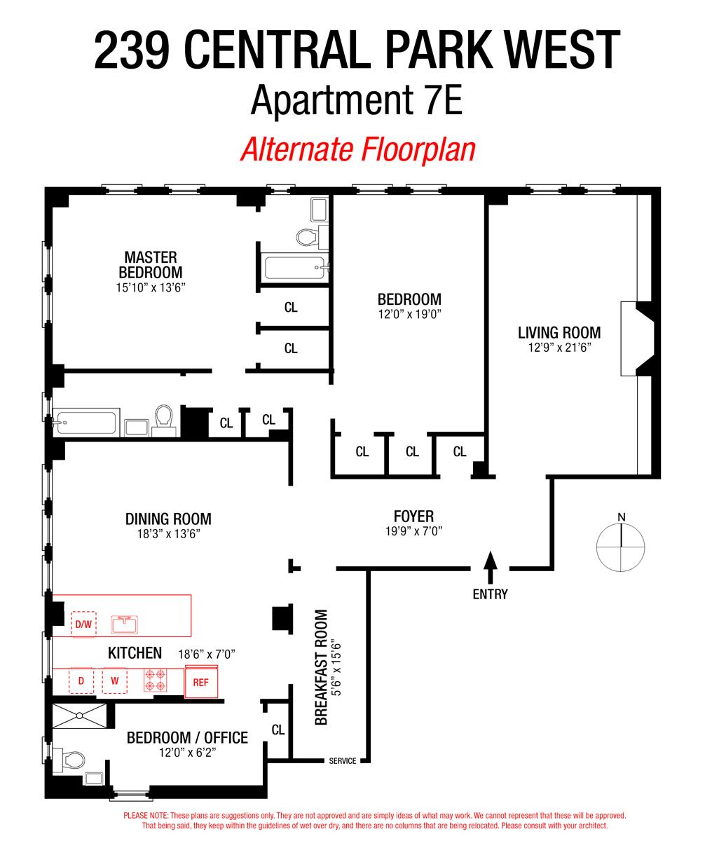 Central Park West Real Estate: StreetEasy: 239 Central Park West In Upper West Side, #7E - Sales, Rentals, Floorplans