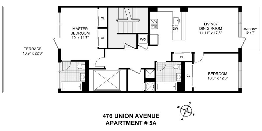 Streeteasy 476 Union Avenue In Williamsburg 5a Sales