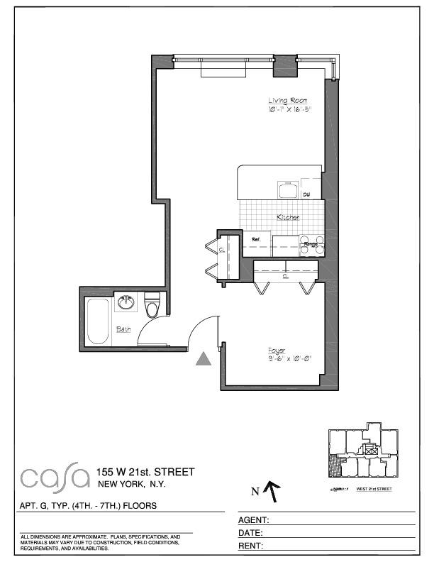StreetEasy: Casa at 155 West 21st Street in Chelsea, #5G