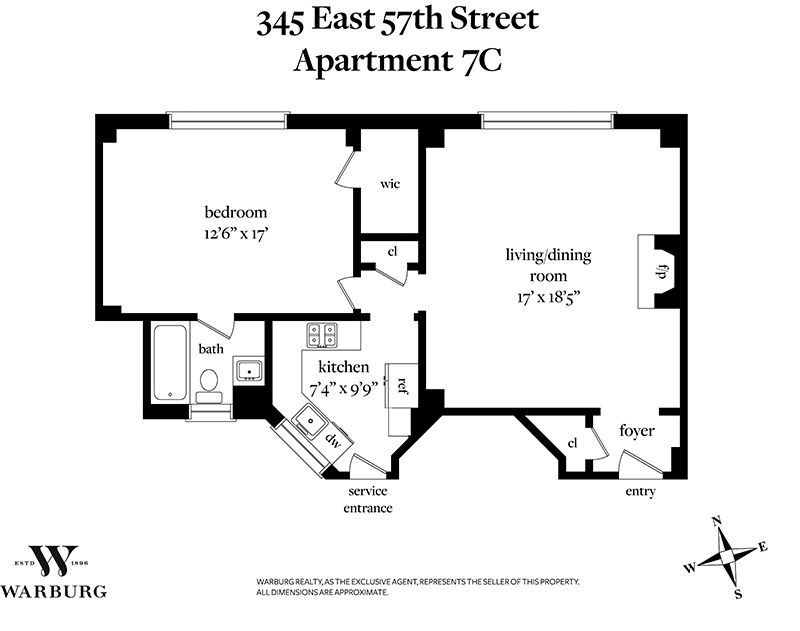 345 East 57th Street #7C in Sutton Place, Manhattan