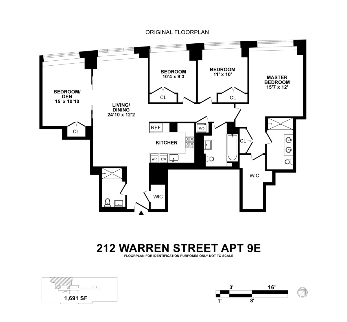 212 Warren Street #9E in Battery Park City, Manhattan